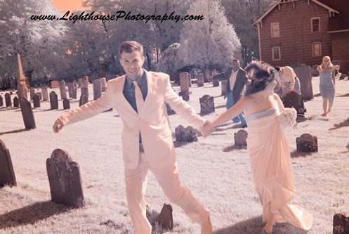 Zombie wedding shoot