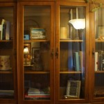 Staged china cabinet