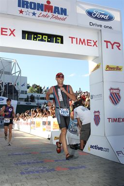 Douglas' Ironman finish