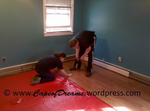 Putting in laminate floor