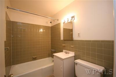 Rental apartment bathroom