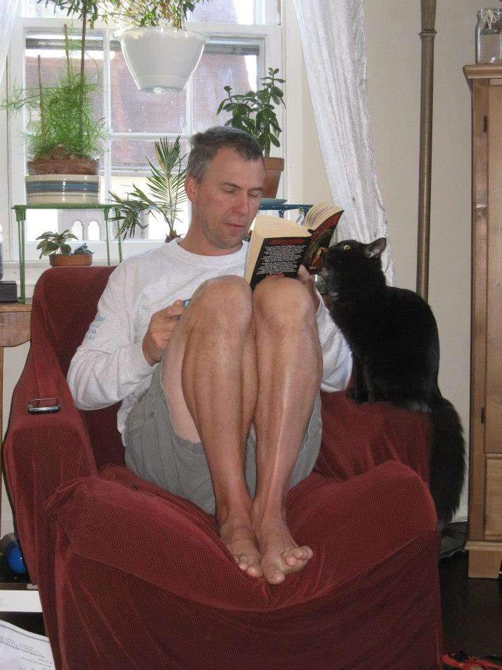 Cat interrupting reading