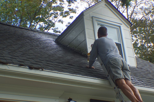 Cleaning the dormers