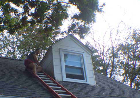 North side, south dormer before