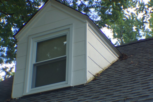 South side, north dormer before