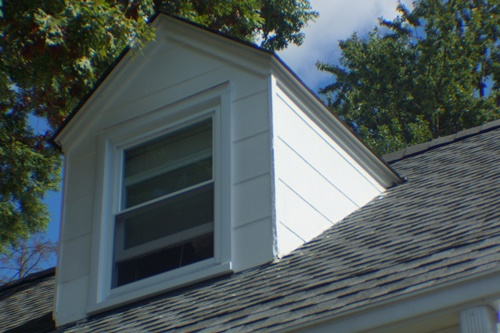 South side, south dormer after