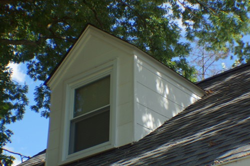 South side, north dormer after