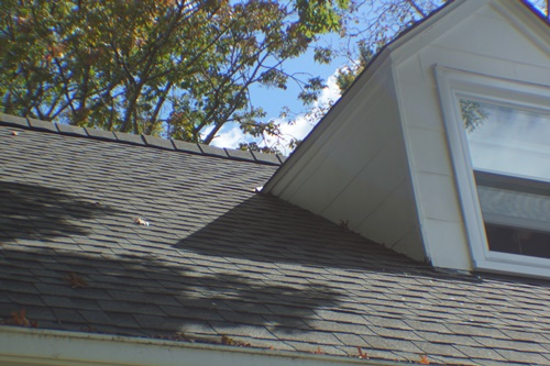 North side, south dormer after