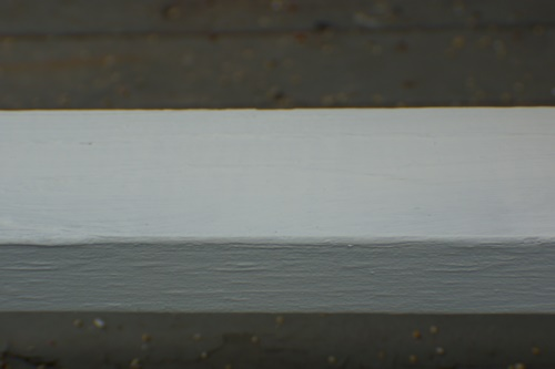Porch railing after painting