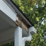 Rotted beam on porch
