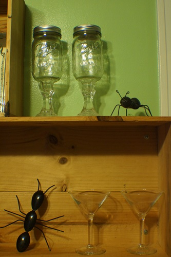 Ant figurines on display