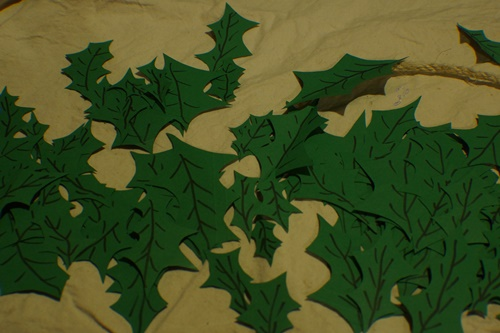 Leaves for DIY Holly Garland