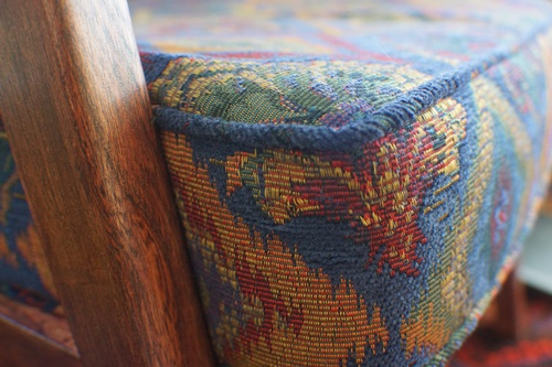 Close up of chair cushion