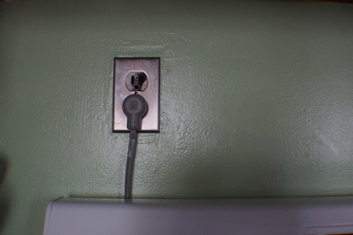 Ugly outlet in the kitchen