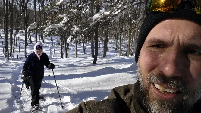 Snowshoeing after Winter Storm Jonas