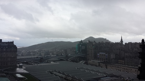 Looking southeast from the Scott Monument