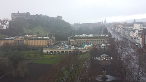 Looking west from the Scott Monument