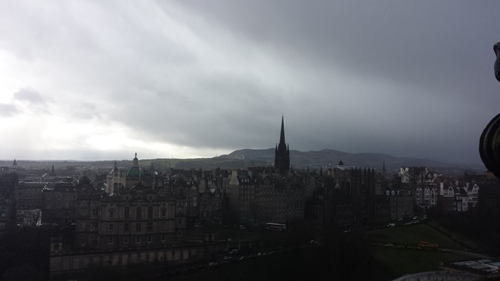 Looking south from the Scott Monument
