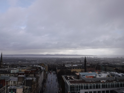 Looking north from the top of the Scott Monument