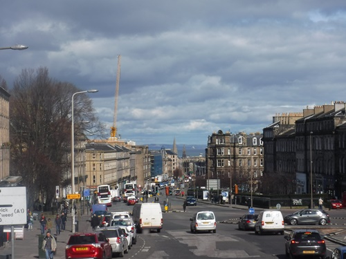 On the road to Leith