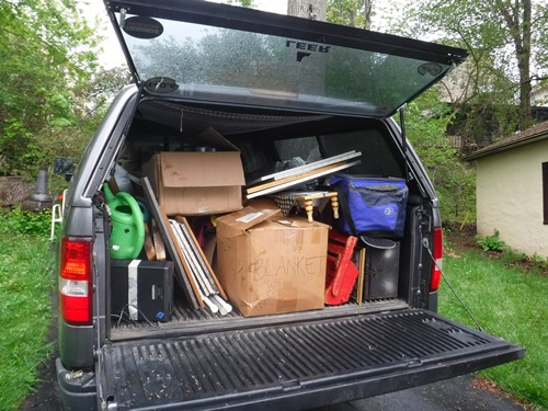 Truck full of things for Goodwill