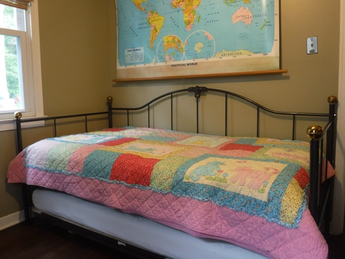 Newly painted trundle bed