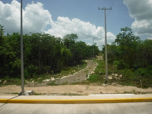 On the road to Chichen Itza