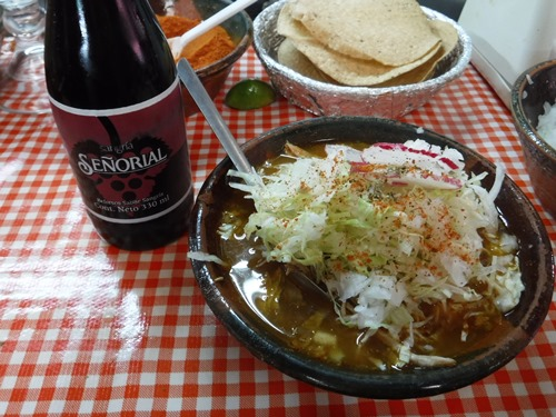 Posole in Coyoacan, Mexico