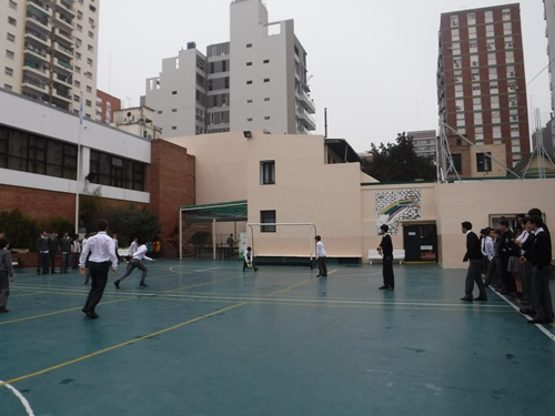 Visiting a school in Argentina