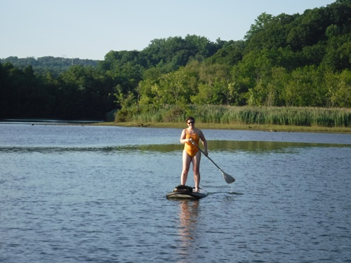 Stand up paddleboards on the Croton River