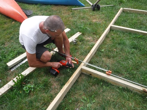 Building the new shed
