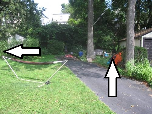 Possible places for the kayak shed
