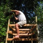 Building the kayak shed