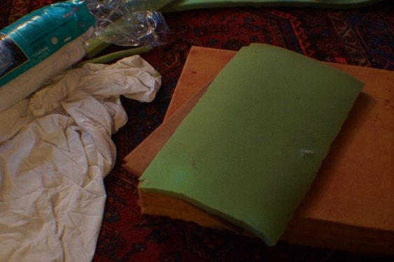 Reupholstering a bench seat