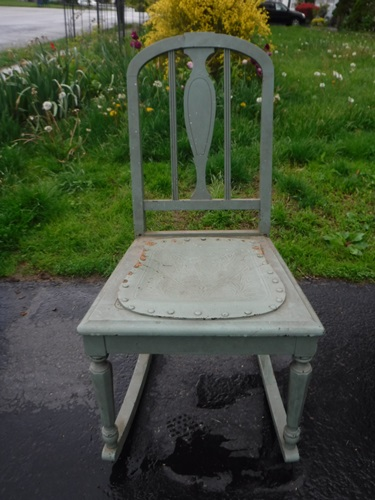Antique rocker rescued from the trash