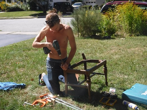 Reattaching a bench back