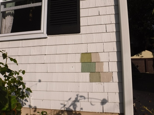 Color swatches on the house