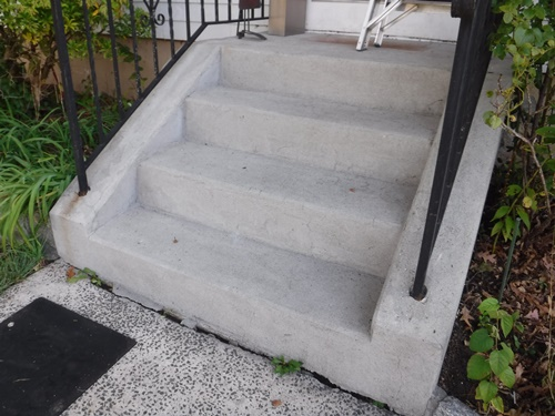 power washed cement stairs