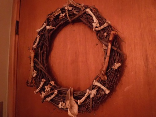 Bone wreath for Halloween