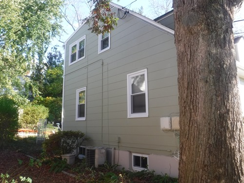 Post exterior house painting