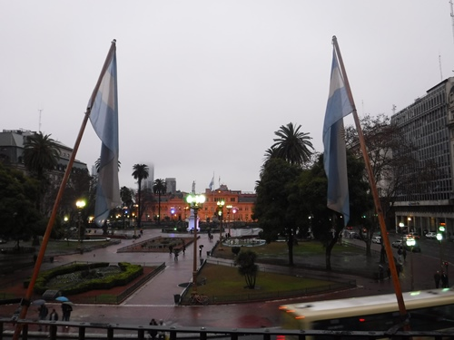 View of the Plaza de Mayo from the Cabildo, Buenos Aires, Argentina