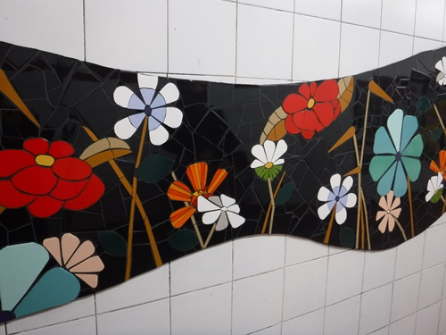 Mosaic in a Metro station, Buenos Aires, Argentina