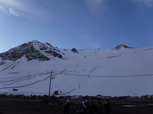 Ski slope in the Andes Mountains, Argentina