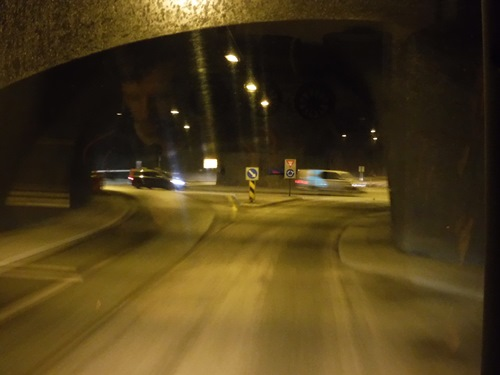 Tunnel in Tromso, Norway