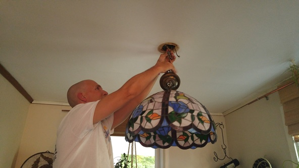 New light fixture in dining room