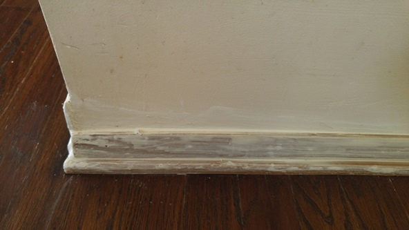 Puttying the baseboards