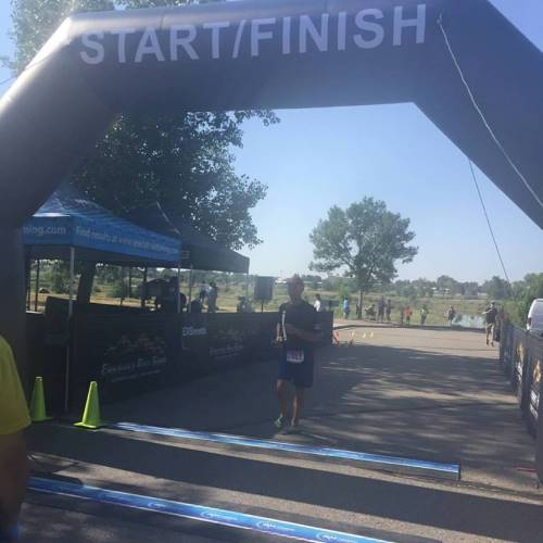 Longmont, CO half marathon finisher