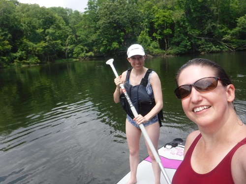Paddleboarding on the Croton River