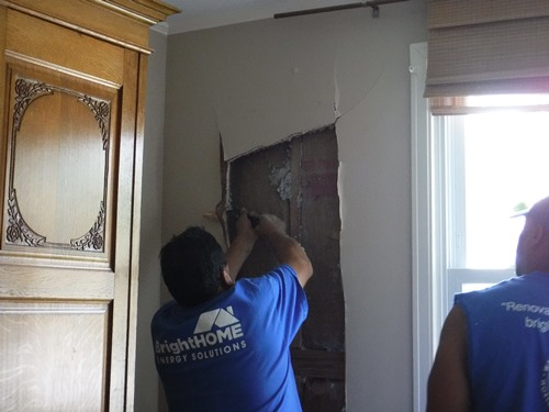 Repairing cracks in the walls